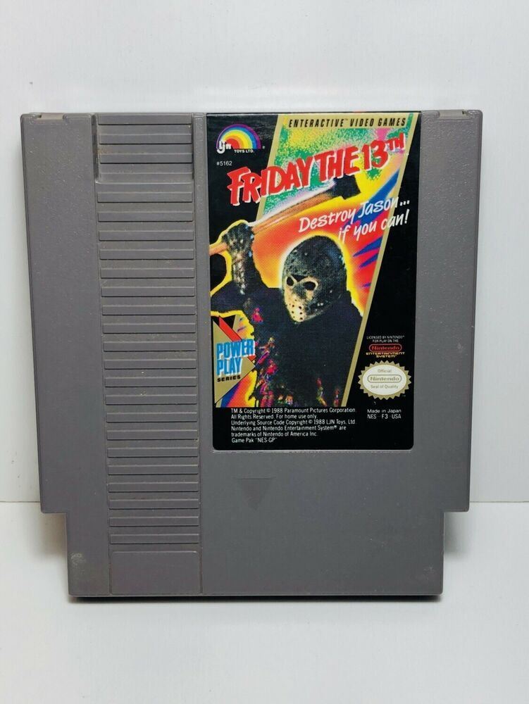 FRIDAY THE 13th -- NES Nintendo Original Authentic Game CLEAN TESTED
