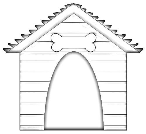 Doghouse Coloring Page Google Search House Colouring Pages