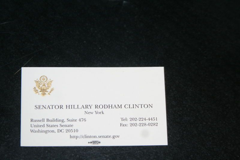15 stunning business cards from famous people or companies hillary clinton business card reheart Gallery