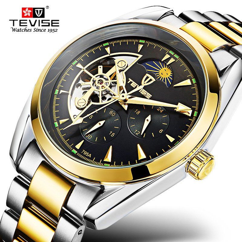 9cc21be8441 Click to Buy    TEVISE 2107 Top Brand Busiiness Wrist Watches Men Luxury.