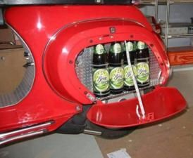 Vespa PK with beer tray