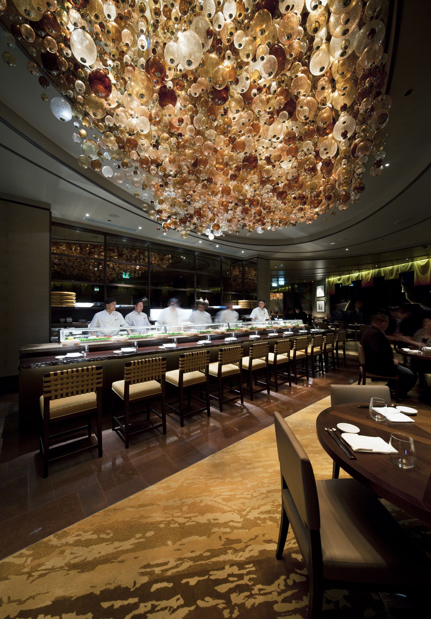Nobu restaurant in perth with ice international handtufted for International decor spain