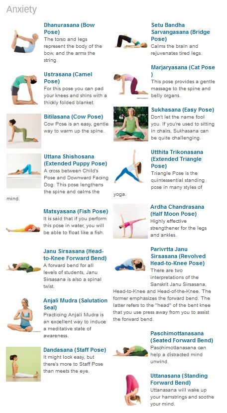 #Yoga Journal - Poses for Anxiety Use these poses to help ...