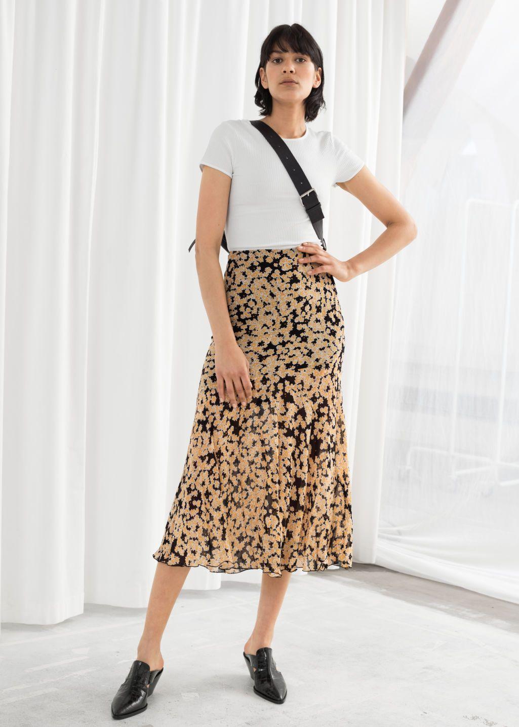 484e54cf5 Floral Print Midi Skirt in 2019 | Blue Cleo | Midi skirt, Skirts ...
