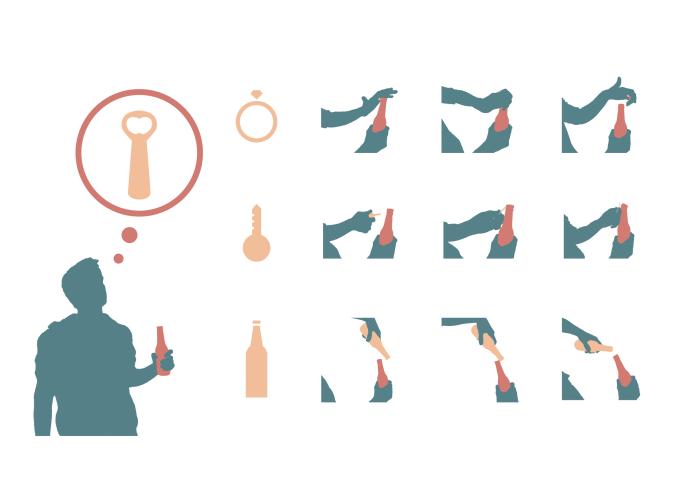 Infográfico sobre jeitos diferentes de abrir garrafas by Bruno Seiiti at Coroflot.com