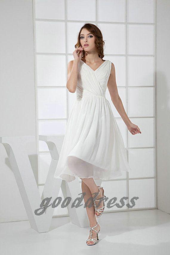 Ivory Short Cocktail Dresses for Weddings