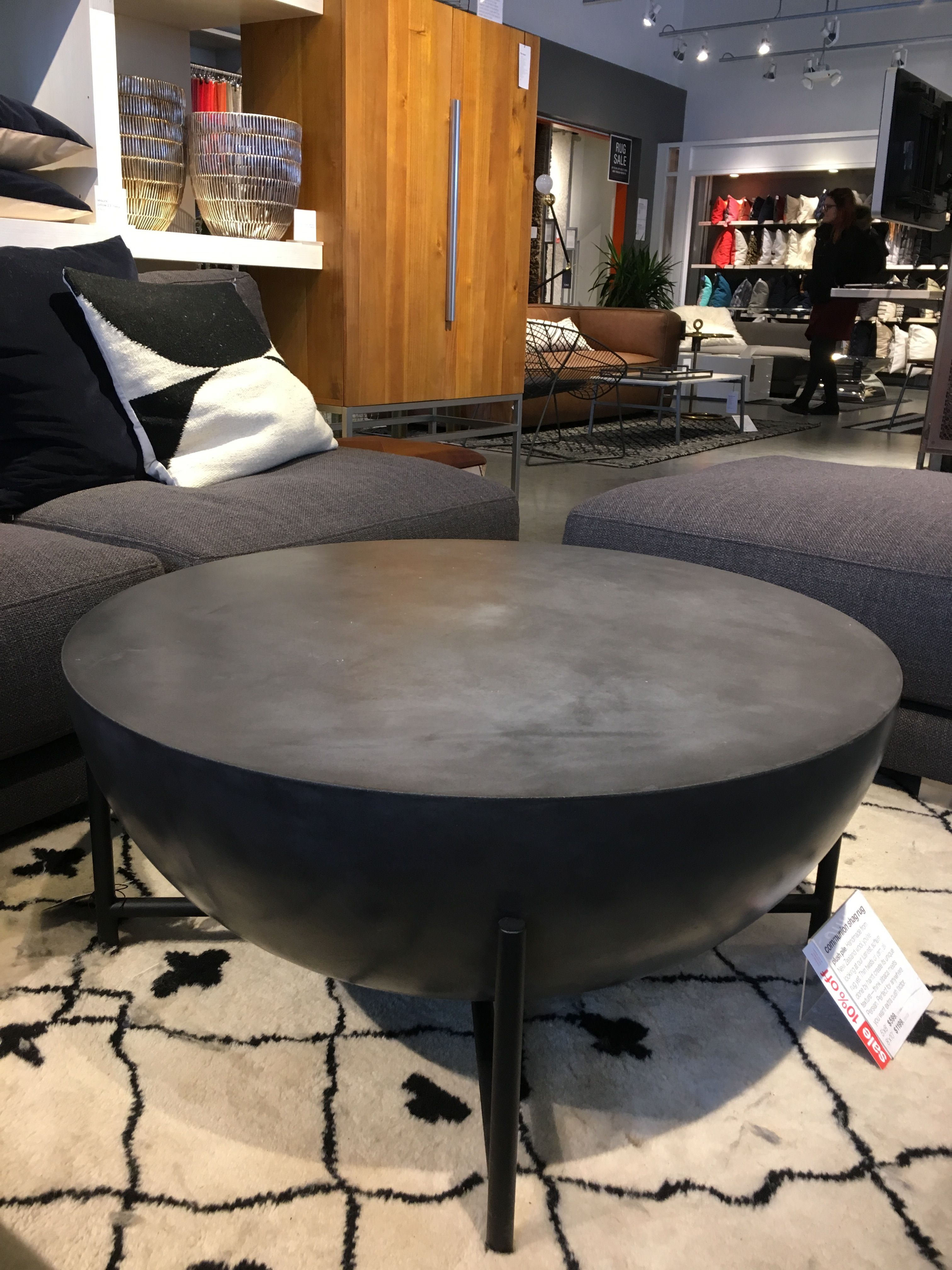Darbuka Coffee Table 700 Cb2 34 Diameter Home Furnishing