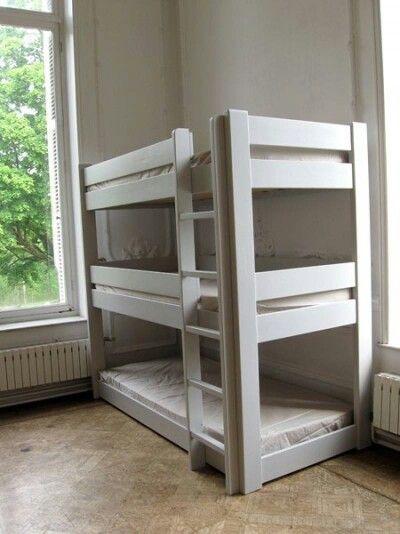 3 Person Bunk Bed Bunk Beds Bed Boys Bedrooms