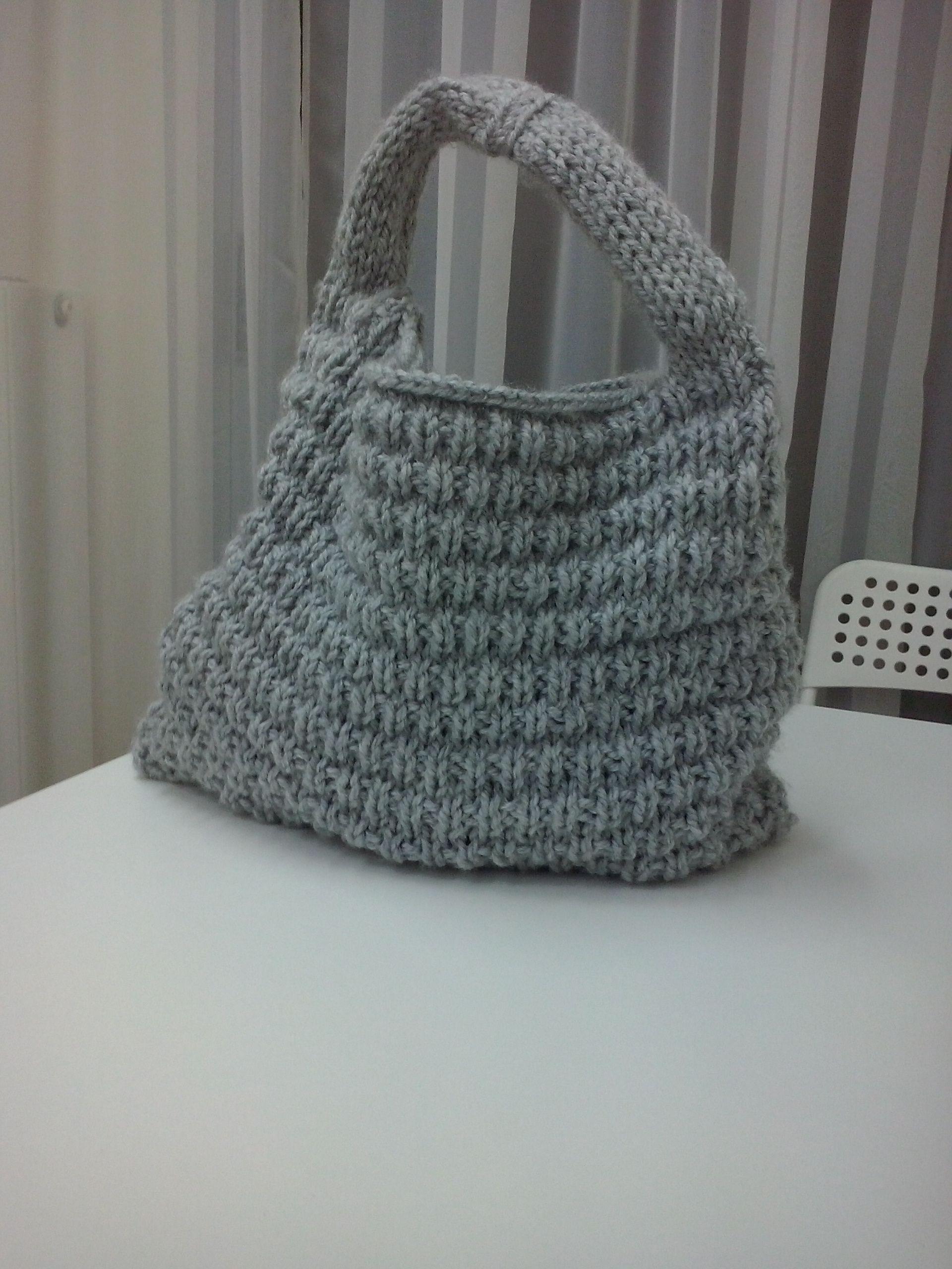 d01afb0278 Υπέροχη τσάντα πλεκτή της Κ πλεγμένη με κυκλικές βελόνες.Σεμινάριο Πλέξιμο  με Βελόνες Γ΄