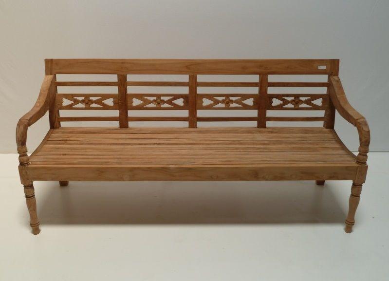 Gartenbank 4 Sitzer Teak Mit Ruckenlehne Und Arme In Form Von Holzschnitzerei Kunstlerischen Und Attraktiv Holzschnitzerei Teak Schnitzerei