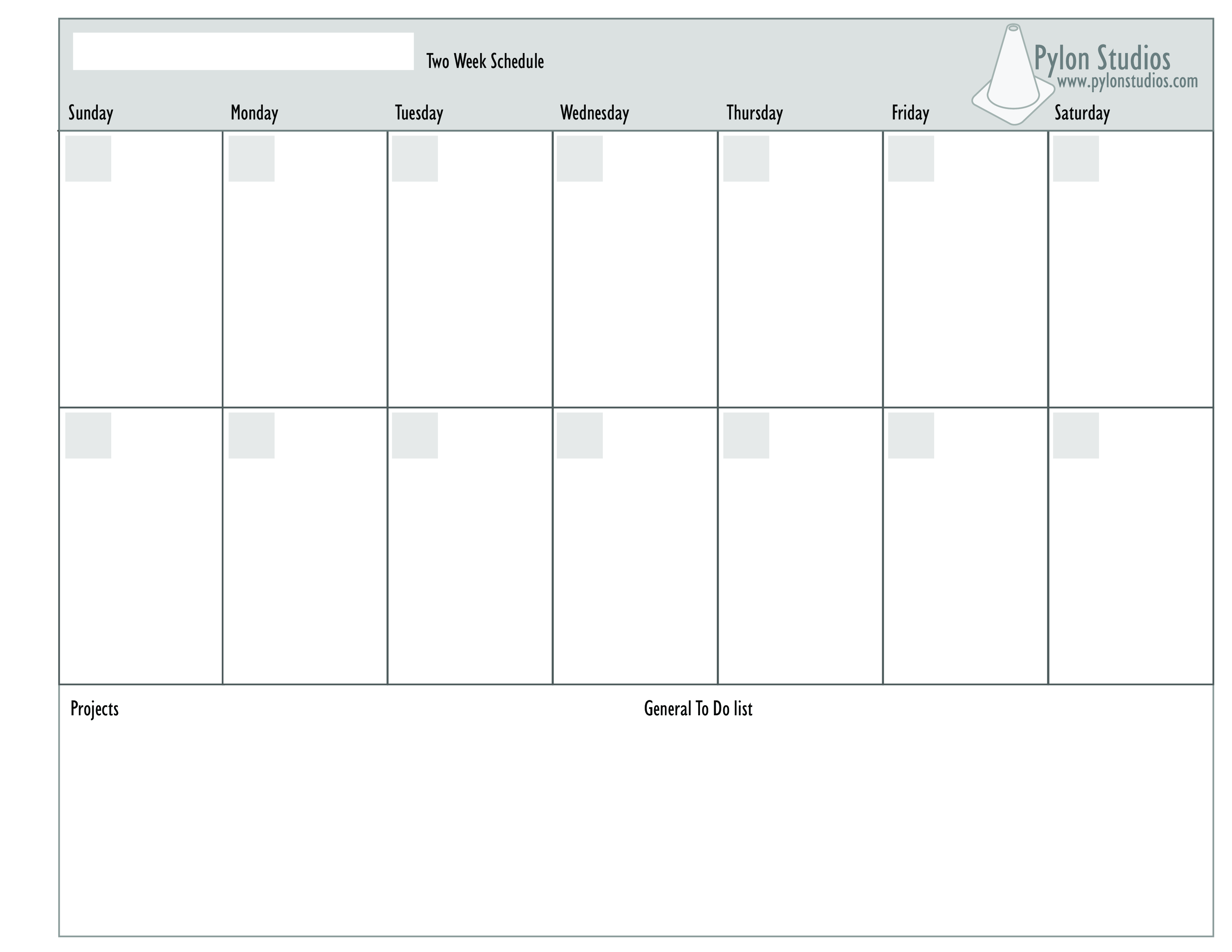 Two Week Calendar Template Excel from i.pinimg.com