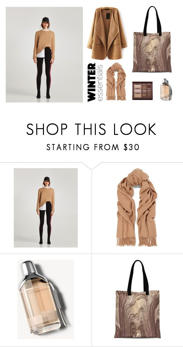 """""""Brown Winter"""" by abstra ❤ liked on Polyvore featuring Too Faced Cosmetics, Acne Studios, Burberry and WithChic"""