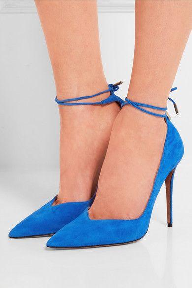 Porter A shoes Aquazzura com Allure Daim Net Escarpins En xYCFw4qv1