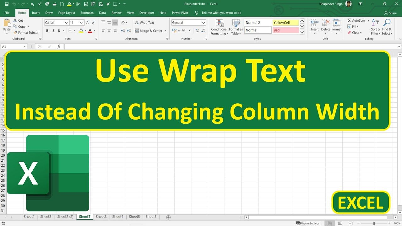 1 Excel How To Wrap Text Inside Excel In 2020 New Business Ideas Microsoft Office Excel