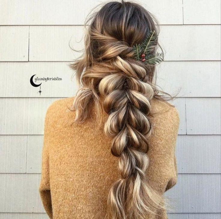 Braided Hairstyles For Thick Hair This Festive Season Pull Through Hairstyle Idea Long Hair Styles Hair Styles Cool Hairstyles
