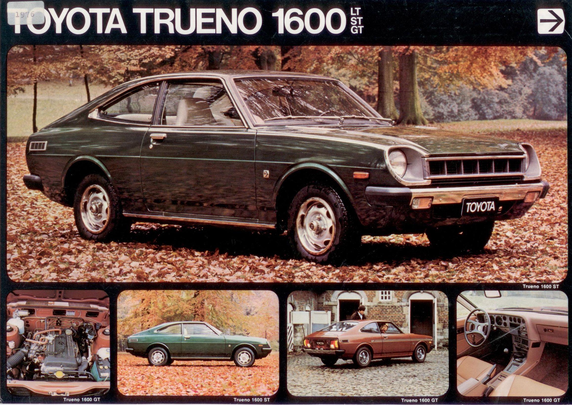 Toyota Sprinter Trueno TE47 Belgien Prospekt Belgium Brochure
