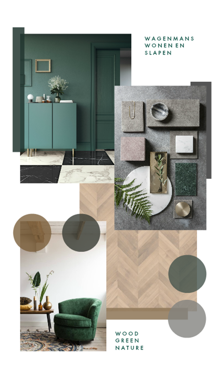 Moodboard Green Interieuradvies | Wagenmans Wonen
