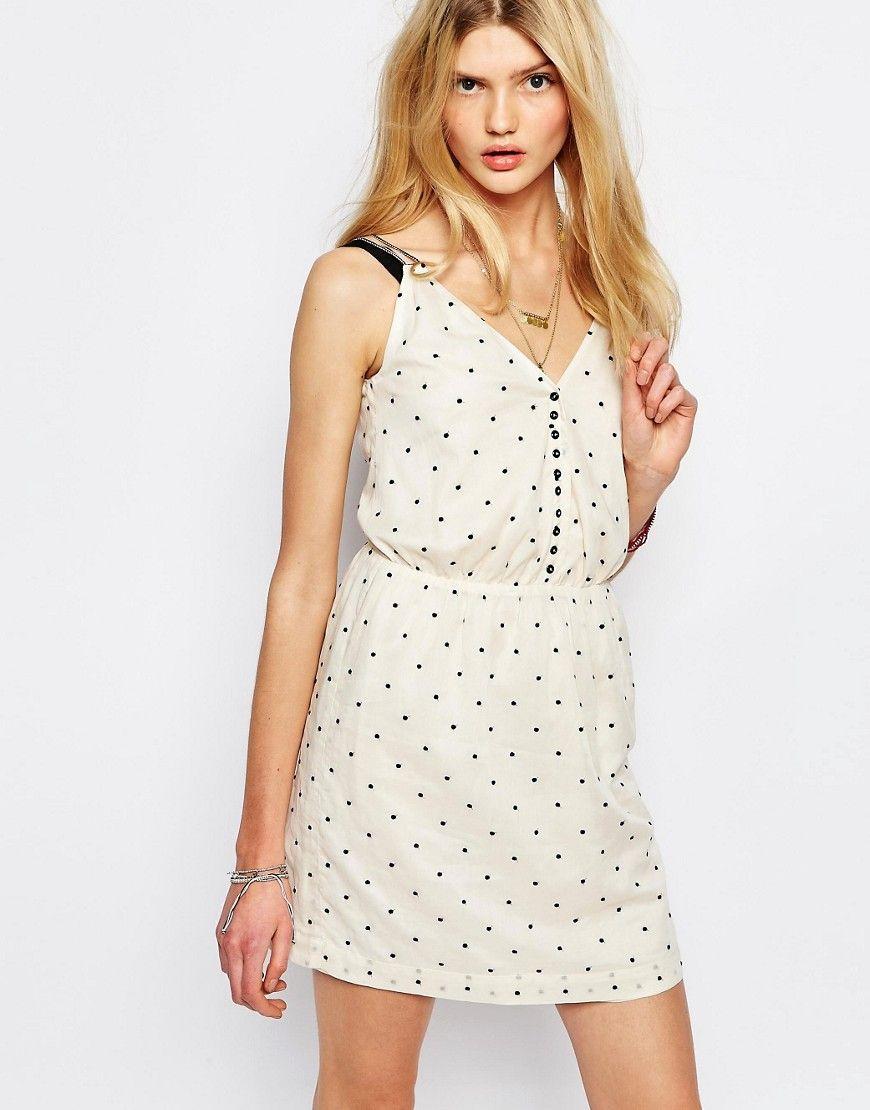 Sessun+Spotted+Mini+Dress+in+Cream