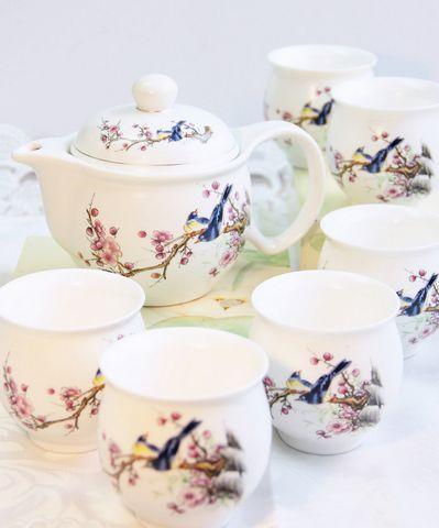 Love This Magpie Plum Blossoms Teaset Tea Set Tea Time Zen Tea