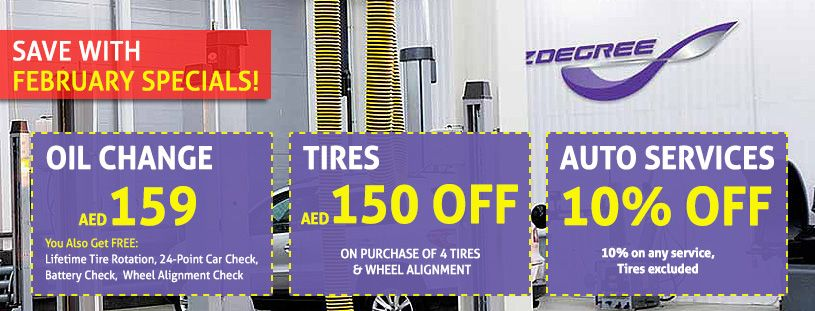 February Specials Save On Oil Change Tires And Auto Services