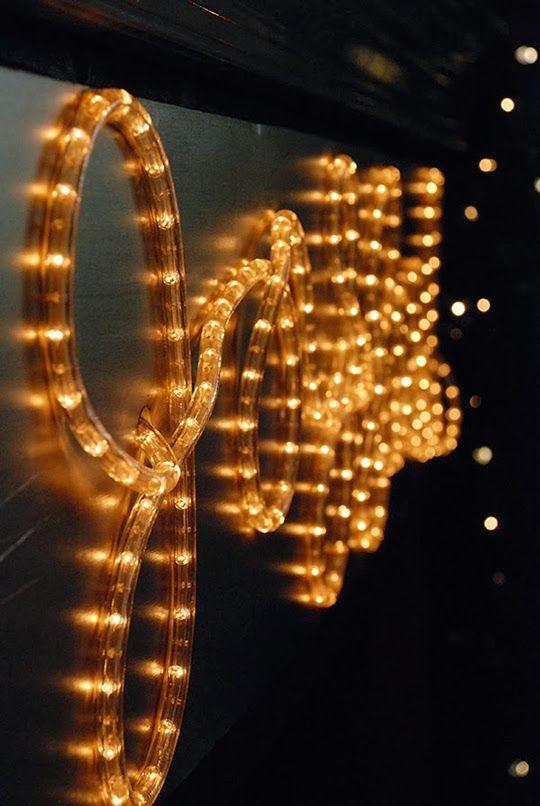 Diy Rope Lights Christmas Stage Design Christmas Stage Church