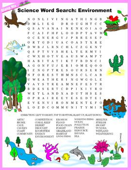 Science Word Search Environment Science Word Search Science