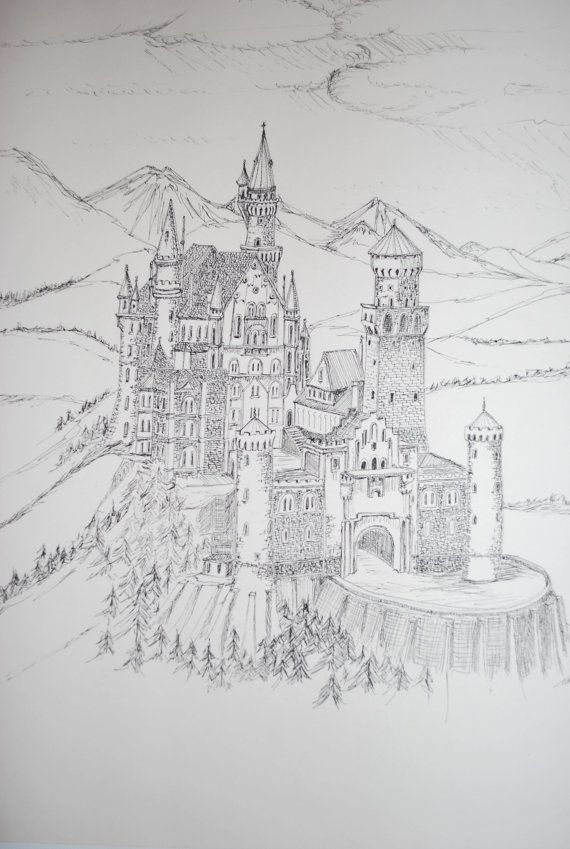 Classroom Design Sketch ~ This is a pen and ink drawing from sketch of the famous