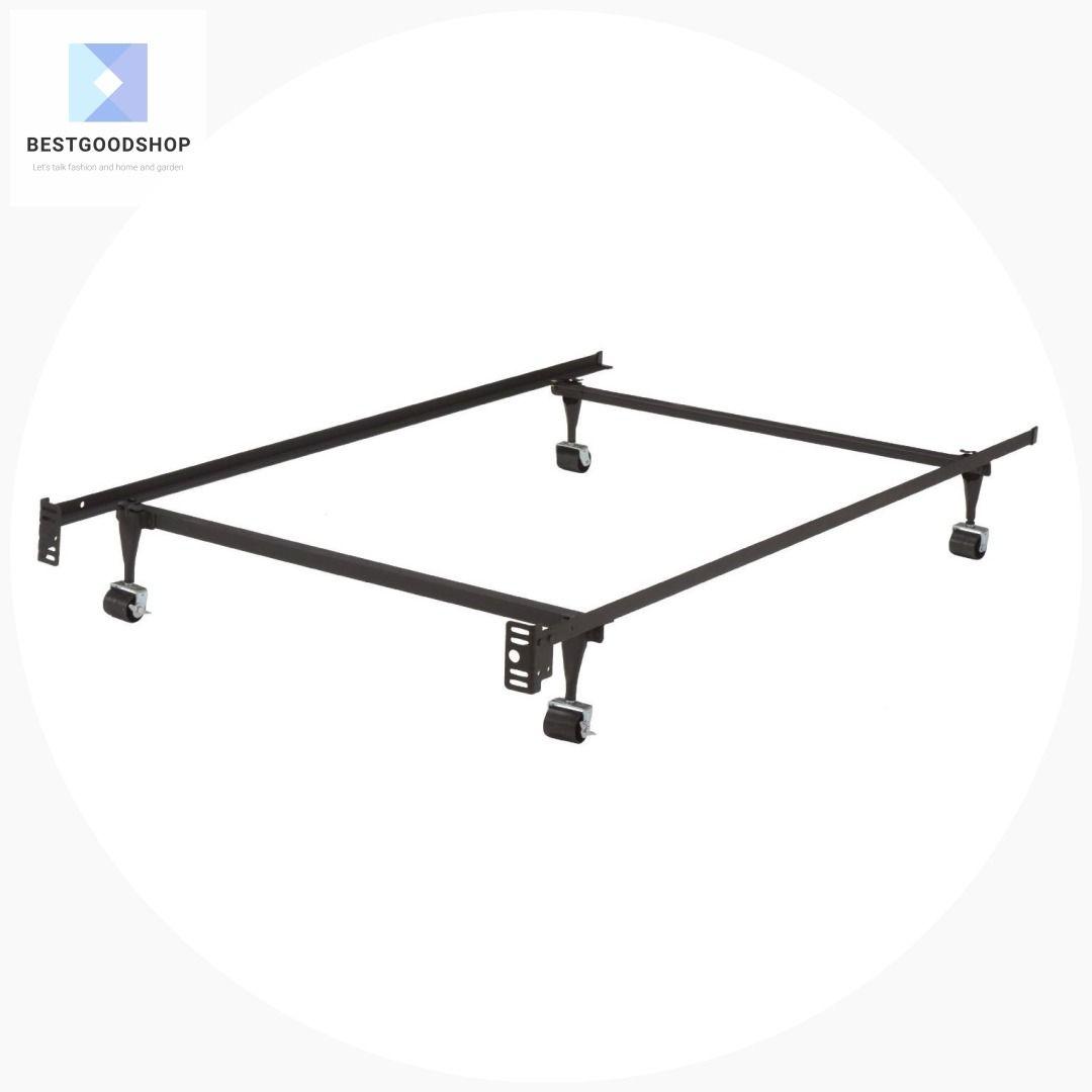 Twin Metal Bed Frame W Locking Rug Roller Wheels Headboard