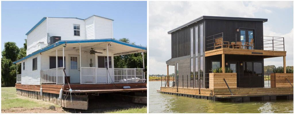 Houseboat Before After Fixer Upper Fixer Upper House House Boat