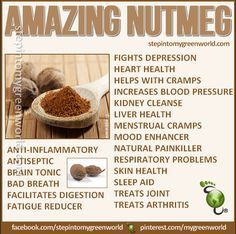Pin by Jaliyahlele Pennington on Nutmeg | Nutmeg benefits, Herbs for
