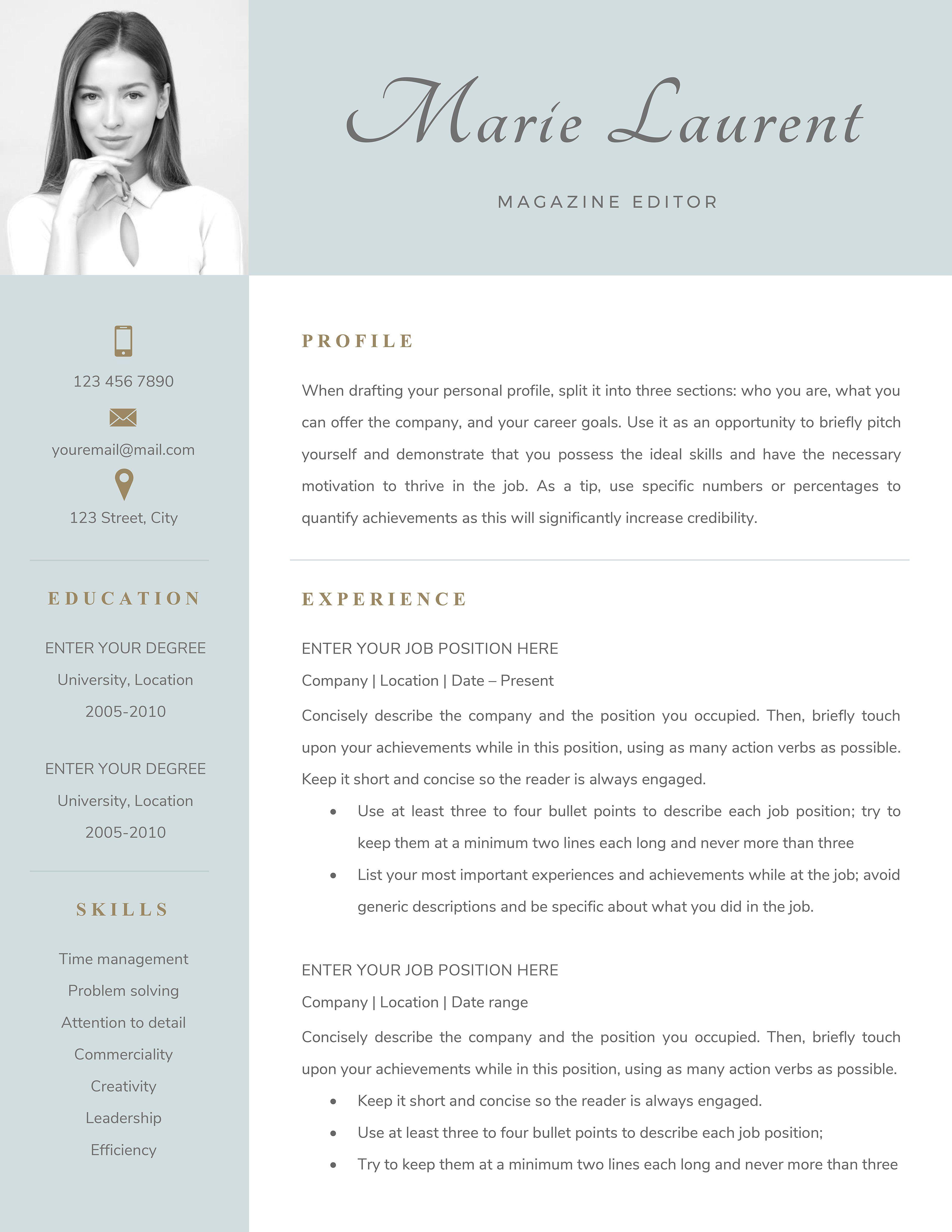 Resume Template textediteasilyfonts Best resume