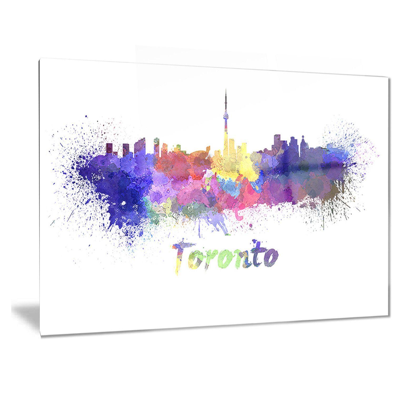 Designart u0027Toronto Skylineu0027 Cityscape Metal Wall Art  sc 1 st  Pinterest & Designart u0027Toronto Skylineu0027 Cityscape Metal Wall Art | Torontonian ...