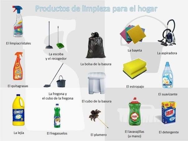 Productos De Limpieza Aprender Espanol Limpieza Limpiacristales