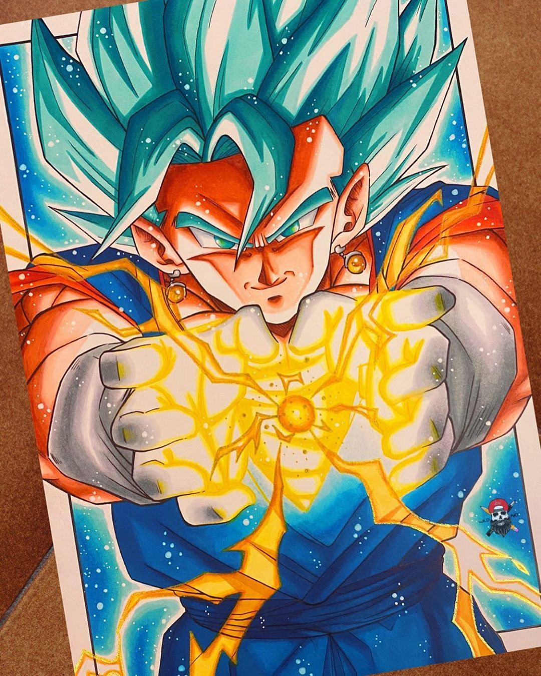 "WildArt on Instagram ""•Final...• Vegito SSJ Blue"