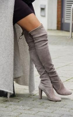 Details about Women Boots Over Knee High Heel Winter Autumn Slip-on Leisure Lace-up Shoes HK