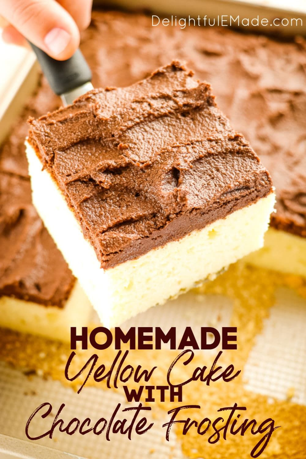 Buttermilk Sheet Cake The Best Yellow Cake With Chocolate Frosting In 2020 Chocolate Frosting Recipes Easy Baking Recipes Chocolate Frosting