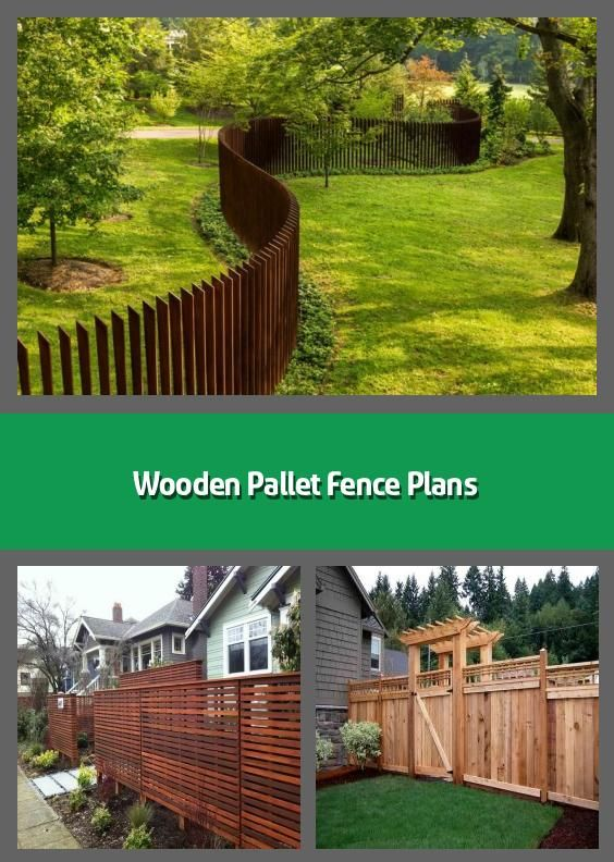 Wooden Pallet Fence Plans - If you need to put up fence at ...
