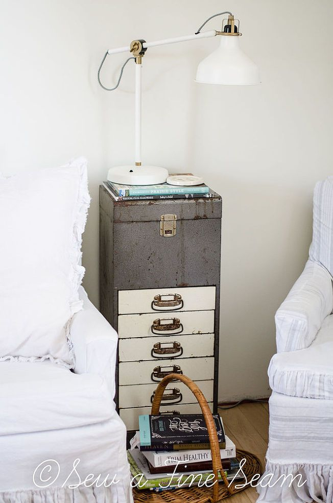 How To Turn An Old Metal Filing Cabinet Into A Side Table