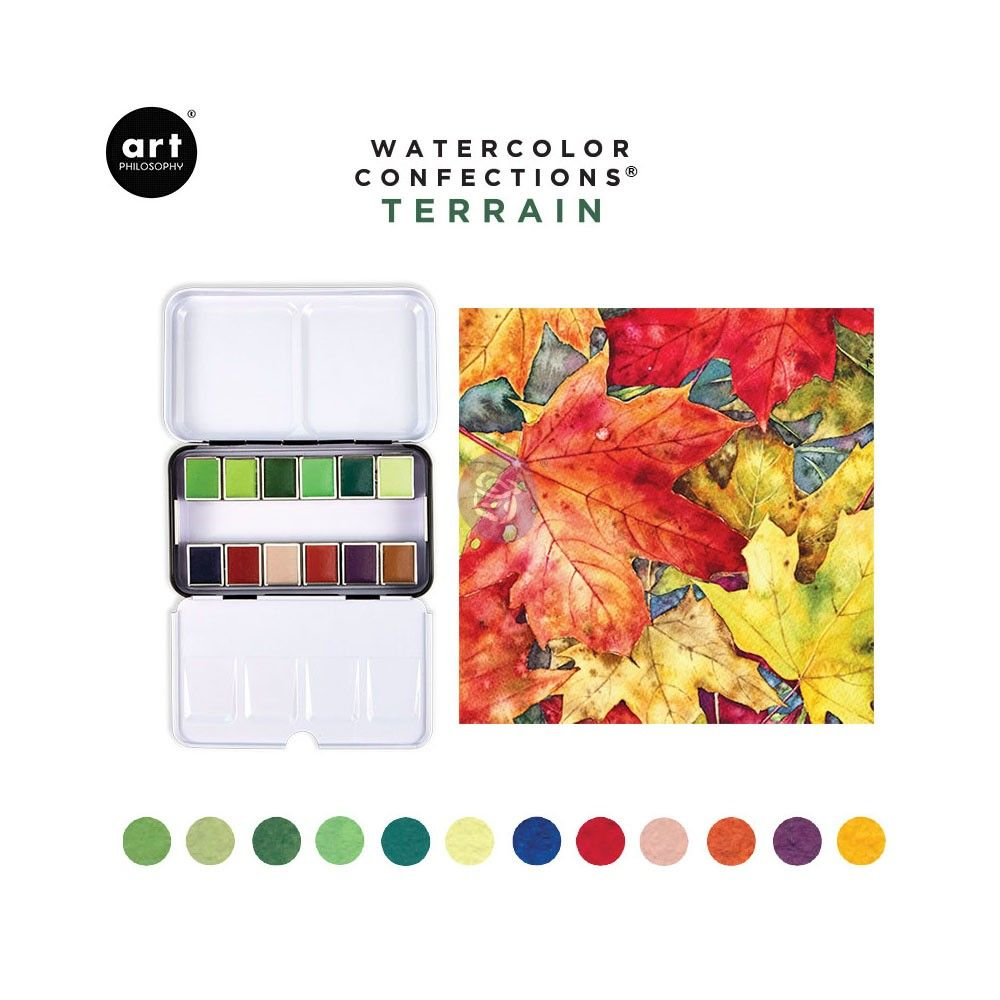 Watercolor Confections Terrain Watercolor Workshop Watercolor Watercolor Palette