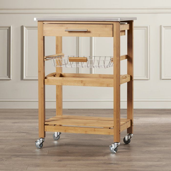 Oak Arbor Grille: Servin Kitchen Cart With Stainless Steel Top (With Images