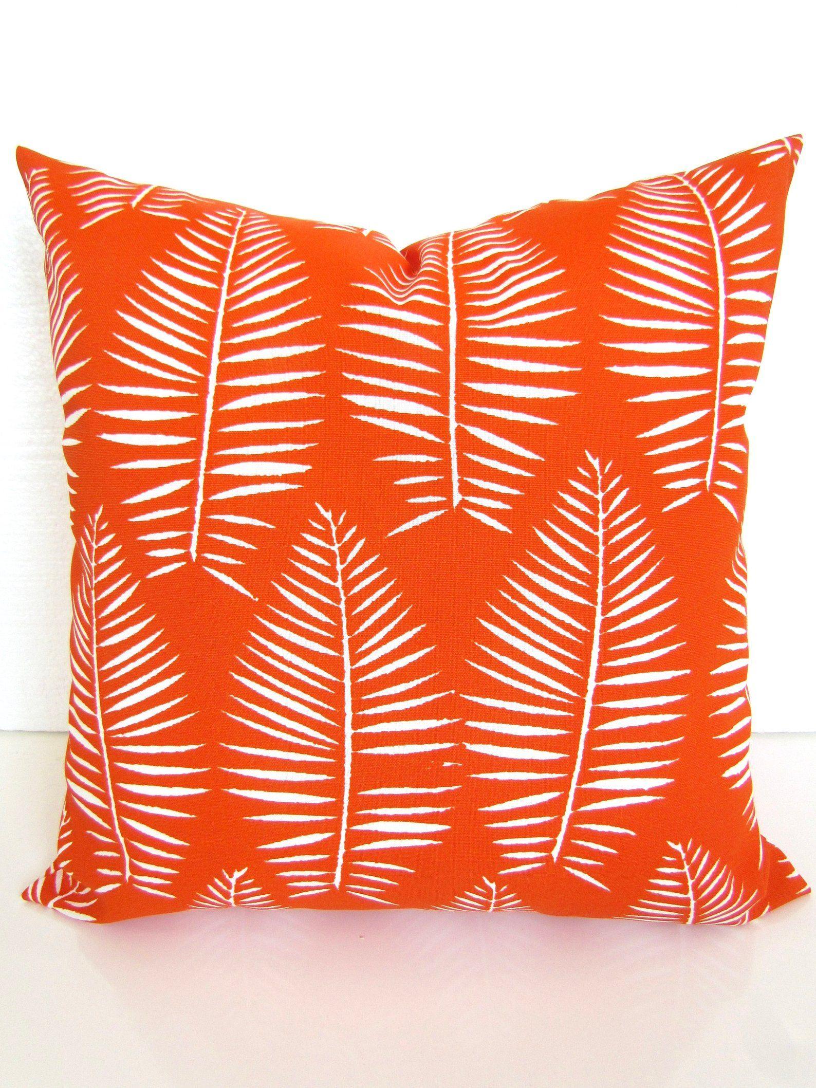 Orange Outdoor Pillows Orange Throw Pillow Covers Orange Etsy