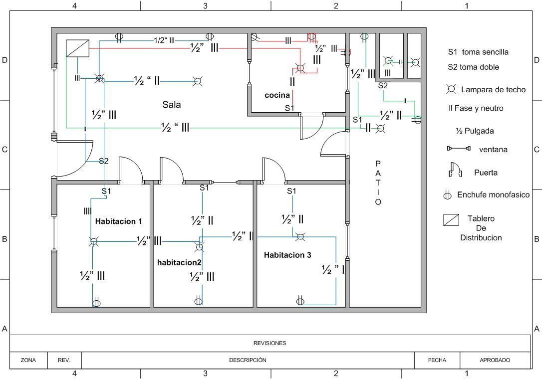 plano electrico de b squeda instalaciones electricas
