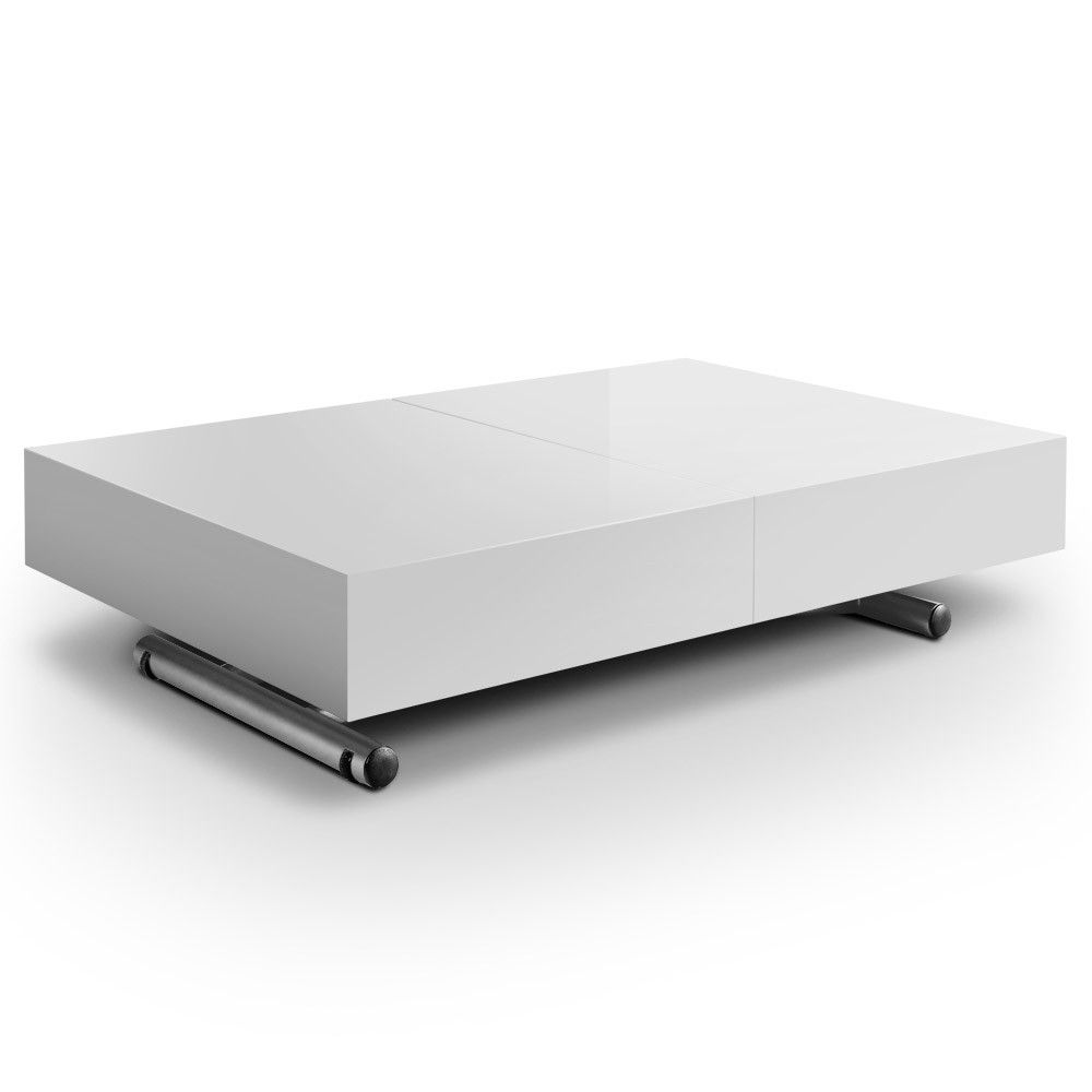 table relevable extensible ella blanc tables relevables. Black Bedroom Furniture Sets. Home Design Ideas