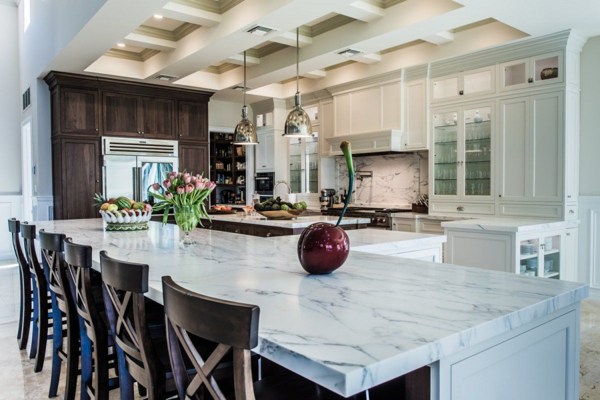 Classic Kitchen Design With White Carrara Marble Kitchen Best Marble Kitchen Designs Decorating Inspiration