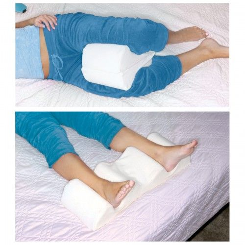 Hypoallergenic Memory Foam Medical Specialty Pillow Side Sleeper Leg Positioner Pillow Leg Pillow Wedge Pillow Pillows