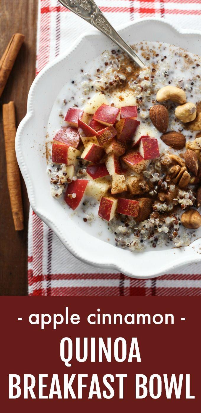Photo of Apple Cinnamon Quinoa Breakfast Bowl | MariaUshakova.com