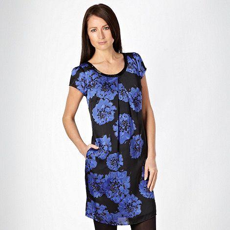 Rocha.John Rocha Designer black floral satin evening dress- at Debenhams.com