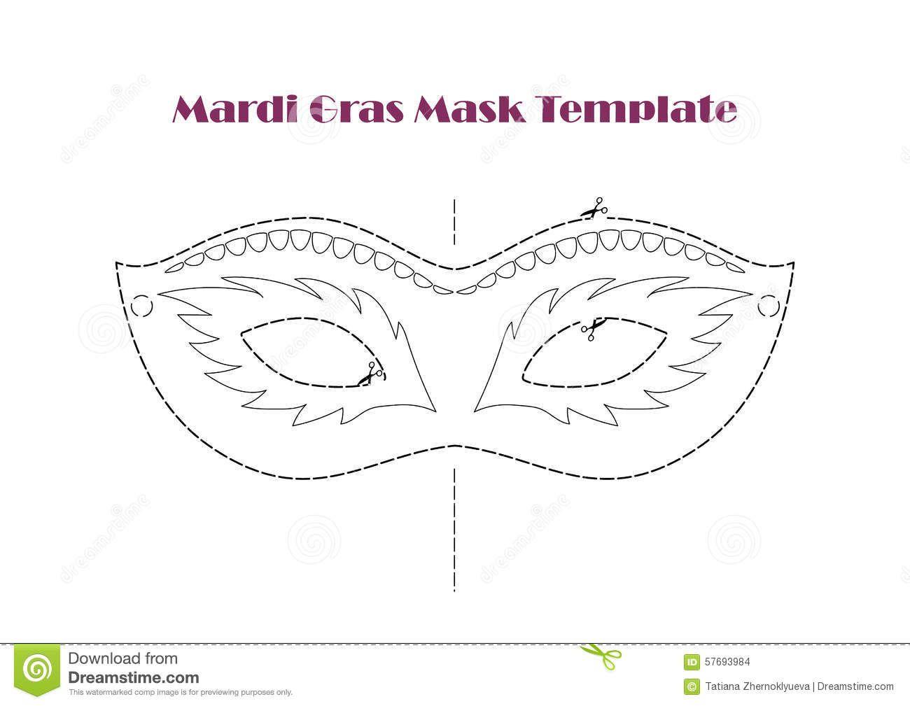Maski Karnawalowe Szablony Szukaj W Google Mask Template Masquerade Mask Template Mardi Gras Mask Template