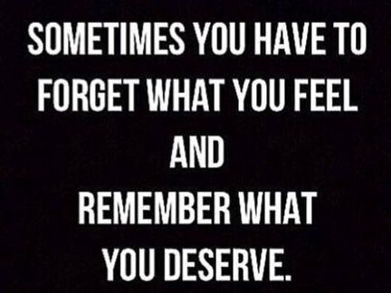 What You Feel vs. What You Deserve.