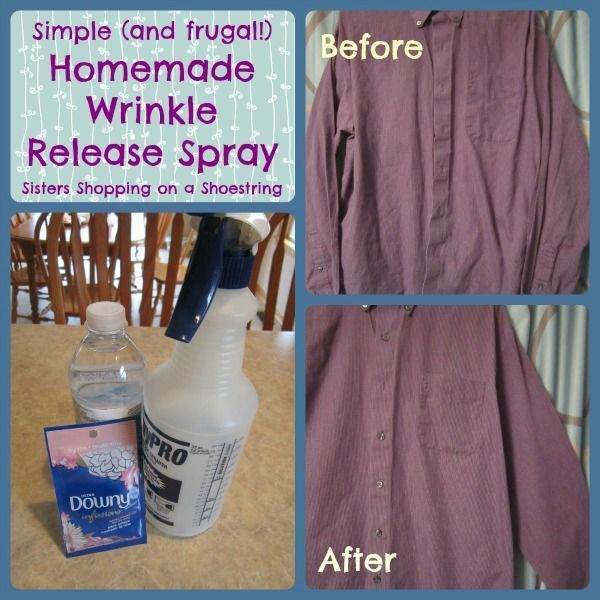 31 Household Products You Ll Never Have To Buy Again: Homemade Wrinkle Release Spray! Easy, CHEAP And Effective